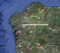 ガリシア地方のリアス式海岸(google Map)