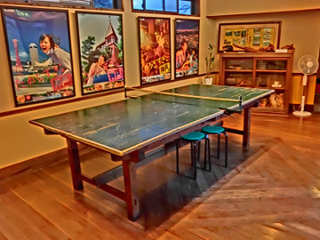 有馬温泉宿のレトロな卓球台