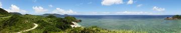 川平石崎からの風景(クリックで拡大)