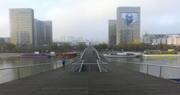 朝のシモーヌ・ド・ボヴォワール橋