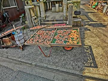 鞆の浦海老の天日干し