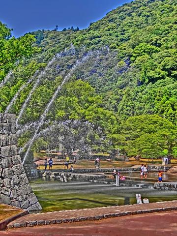 岩国吉香公園の噴水広場
