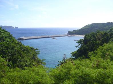母島沖港となぎさ公園の浜