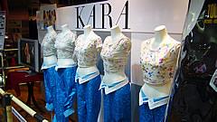 渋谷タワレコのKARA衣装展示