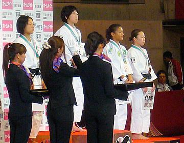 女子-48kg級表彰式
