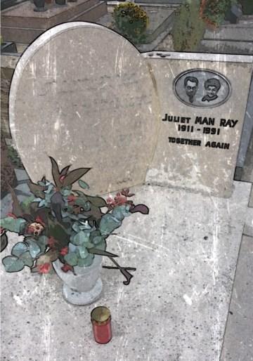 マン・レイ風にマン・レイのお墓を